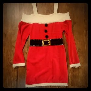 Fun Sexy Santa Sweater Dress